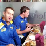 Leeds Rhinos enjoying Deeva food